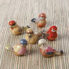 Artists Hand Painted Porcelain Gift Sparrows