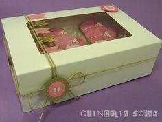 Caja de galletas decorada. Un regalo muy dulce.