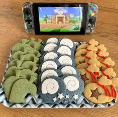 Animal Crossing Fan Art, Animal Crossing Memes, Animal Crossing Qr Codes Clothes, Animal Crossing Pocket Camp, Motifs Animal, Cute Cookies, Animal Birthday, New Leaf, Cute Food