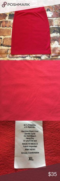 LuLaRoe Cassie LuLaRoe Cassie. Beautiful in red! ❤️ Available in size XL. LuLaRoe Skirts Midi
