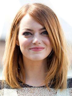 Emma Stone's Simple Long Bob Hairstyle