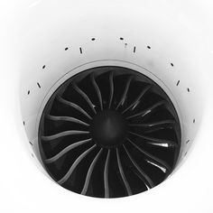 generalelectric:  The fan blades of a GEnx engine at GE Aviation in Peebles, OH. Photo by @Lars Wicki.