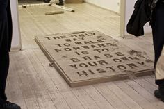 juan arata's participatory sand installation asks visitors to erase history