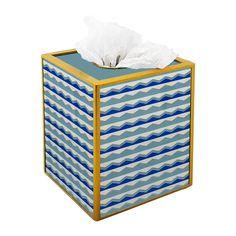 Bathroom Decorative Set Nautical Blue Waves Decorative 3 | Etsy Tissue Box Covers, Tissue Boxes, Metal Structure, Liquid Soap, Bath Accessories, Hand Sanitizer, 3 Piece, House Warming, Nautical