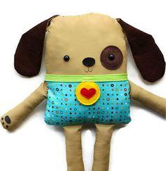 Easy Sewing Pattern Toy Dog Softie Doll PDF by GandGPatterns, $10.00