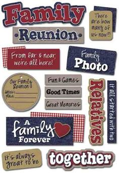 Family Reunions - such great fun!!