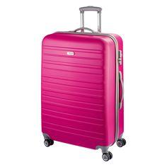Großer #Reisetrolley d&n Travel Line 9400 bei Koffermarkt: ✓Hartschale aus ABS ✓4 Rollen ✓94 l Volumen ✓Farbe: pink  ⇒Jetzt kaufen