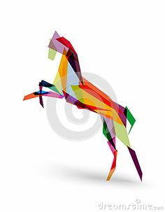 Chinese new year of the Horse colorful triangle EPS10 file. by Cienpies Design / Illustrations, via Dreamstime