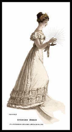 Regency Evening Gown