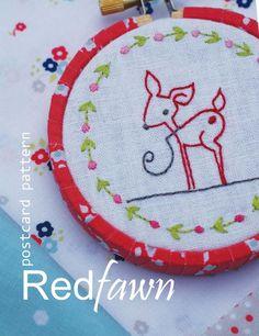 Postcard pattern image Red Fawn RGB web