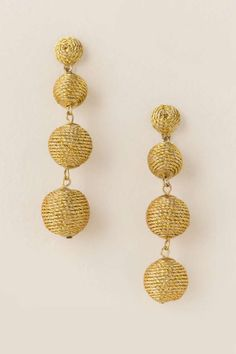 Lisette Statement Earrings in Gold