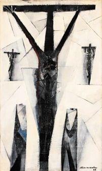 Golgotha by Filipino artist Vicente Manansala Crucifixion Painting, Modern Art, Contemporary Art, Philippine Art, Holy Week, Jesus Pictures, Sacred Art, Global Art, Western Art