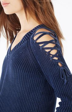 Kamyla Cold-Shoulder Sweater