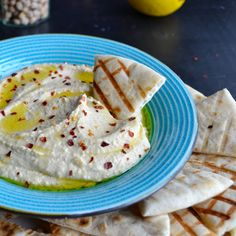 From a girl who grew up eating lots and lots of hummus...this recipe is fantastic! Creamy, lemony and so delicious!  |  Taste Love and Nourish