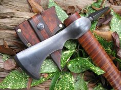 Hand-forged Beared Spike Tomahawk / Camp Axe Hatchet by Butches Forge.