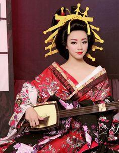 Tradicional Japonês Gueixa Quimono trajes e acessórios de cabelo Conjunto…