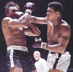 Ali face punch. Cleveland Williams recipient.