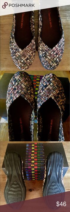 NEW-BERNIE MEV Catwalk.Size 37 = 7❣️ Brand New in box - Feels like a soft comfortable slipper 😍--I have 5 pairs in my at home closet , of different styles - this is my favorite❣️Woven stretch - memory foam lined -multiple muted color called TIGERS EYE ( newest color blend) They go with everything.❣️ These were given to me as a gift but the wrong size. They are size 37 ( 7 )- I feel they run true to size - I promise you will love these💓 BERNIE MEV-CATWALK Shoes Flats & Loafers