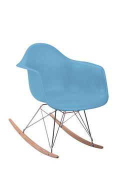 Daisy Rocking Chair - Blue by Dulce Modern Mid Century Furniture on @HauteLook