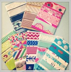 How to Make Washi Card Samples | MsWenduhh Planners & Printables
