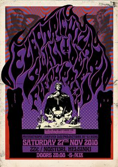 Poster for Electric Wizard show. Tour Posters, Band Posters, Music Posters, Metal Artwork, Cool Artwork, Stoner Rock, Psychedelic Music, Concert Posters, Gig Poster
