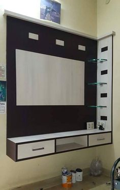 Tow Bed Kids 30000 Karan Jangid Salvabrani Bedroom – About Designs Tv Cabinet Wall Design, Lcd Wall Design, Lcd Unit Design, Cupboard Design, Bedroom Tv Unit Design, Tv Unit Furniture Design, Living Room Tv Unit Designs, Lcd Units, Tv Unit Decor