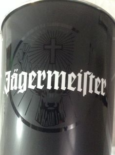 "Jagermeister Liquor Metal 9"" Ice Bucket Blacked Out Deer Head Liqueur Alcohol   #Jagermeister"