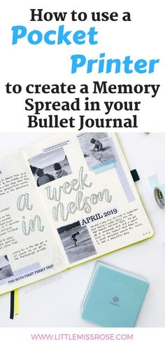 How to use a pocket printer to create a precious memory spread in your bullet journal. Adding photos to your bujo can be simple and inexpensive with this one tool! Making A Bullet Journal, Bullet Journal Contents, Bullet Journal For Beginners, Bullet Journal How To Start A, Bullet Journal Junkies, Bullet Journal Layout, Bullet Journal Inspiration, Bullet Journals, Art Journals