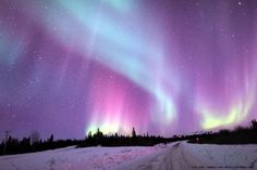 Aurora Borealis Taken by John Chumack on March 21, 2014 @ Fairbanks, Alaska, USA
