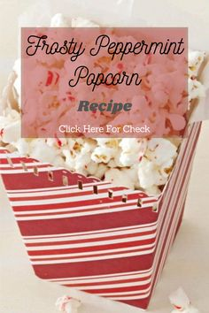 Whether you need a quick gift idea or yummy munchies for movie night, we've got you covered with this peppermint twist on regular popped popcorn. #popcornn #popcornrecipe #foodrecipe #eathealthy #healthyrecipe #healthyfood Peppermint Popcorn Recipe, Popcorn Recipes, Real Food Recipes, Healthy Recipes, Eat Healthy, A Food, Nutrition, Movie, Night