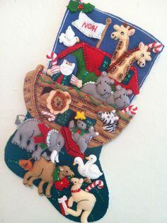 Noah's ark christmas stocking , def getting my son something like this :)