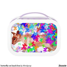 butterfly cat lunch box