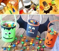 DIY trick or treat buckets