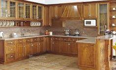 Walnut kitchen cabinets, she'll marble granite & tan travertine  - Google Search
