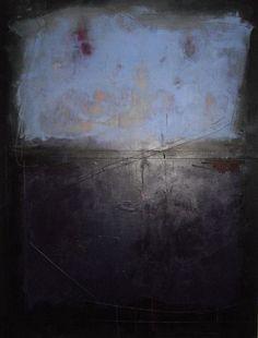 "nezartdesign:  ""darkness"" by rene' norman 48x36/ mixed media on canvas via nezart design"