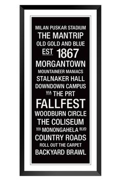 wvu college town wall art change a few but totally cute for the wvu - Wvu Diploma Frame
