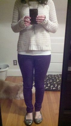 Purple Pants Purple Pants, Work Clothes, Dress Up, My Style, Fall, Makeup, Board, How To Wear, Life