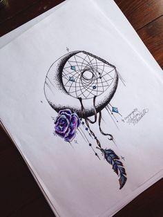 Galaxia luna rosa Print por MorgansCanvas en Etsy