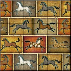 Southwest Horse 8 by Dan Morris - Kitchen Backsplash / Bathroom wall Tile Mural Tile Mural Store-Animals,http://www.amazon.com/dp/B00BDNS4V0/ref=cm_sw_r_pi_dp_qOwKsb17DEWPV462