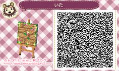 Wild Flowers and Boards Path -  Animal Crossing New Leaf QR Code ACNLQR
