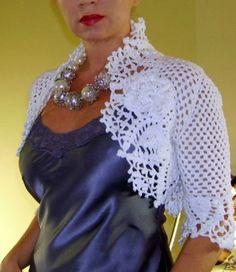 As Receitas de Crochê: Bolero elegante em croche