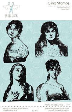 Women Melange Cling Stamp Set