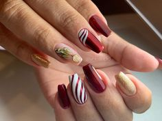 Christmas Nails, Beauty, Xmas Nail Art, Beleza, Xmas Nails, Cosmetology