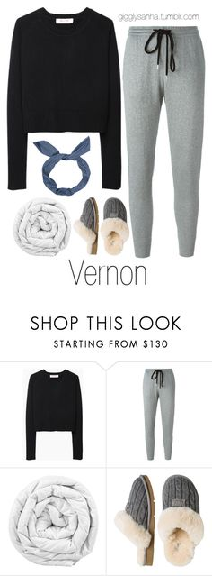 """""""Sleepover // Vernon"""" by suga-infires ❤ liked on Polyvore featuring Organic by John Patrick, Markus Lupfer, Brinkhaus and UGG Australia"""