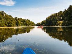 Die Wakenitz ist mit dem Kanu bequem in beide Richtungen befahrbar.