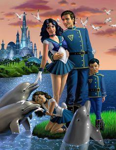 Neptune and Family by AlanGutierrezArt.deviantart.com on @DeviantArt