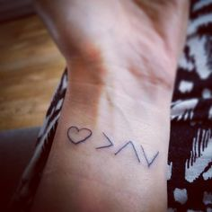 """The tattoo means """"love is greater than the highs and lows — Lisa McAnally"""