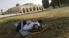 Resting besid Al Qasa Mosque - Palestine
