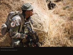 Parcours de tir au Tchad, par 45 C°. © CCH A. DUMOUTIER