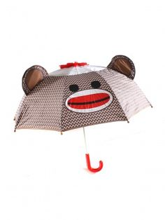 sock monkey umbrella...perfect for weather in the valley!